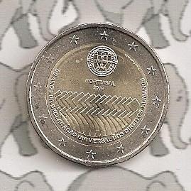 "Portugal 2 euromunt CC 2008 ""Mensenrechten 60 jaar"""