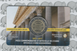 "België 2 euromunt CC 2017 ""Universiteit van Gent"" in coincard Franse versie"