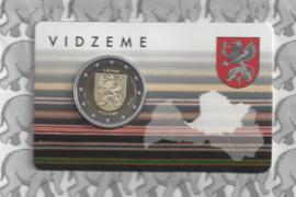 """Letland 2 euromunt CC 2016 """"Provincie Vidzeme"""" (in coincard)"""