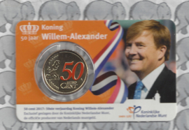 "Nederland coincard 2017 ""50 jaar Koning Willem-Alexander"""