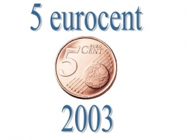 Portugal 5 eurocent 2003