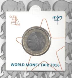 "Nederland 1 euromunt 2016 ""World Money Fair"""
