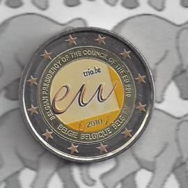 """België 2 euromunt CC 2010 """"EU Voorzitterschap"""" (kleur 2)"""