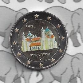 """Duitsland 2 euromunt CC 2014 """"St. Michaeliskirche te Hildesheim, Niedersachsen"""" (kleur)"""