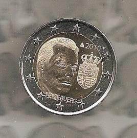 """Luxemburg 2 euromunt CC 2010 (9e)""""Henri met wapen"""""""