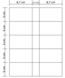 Lukos coincard blad (10 vaks, boven, voor iedere 4 ringsklapper)