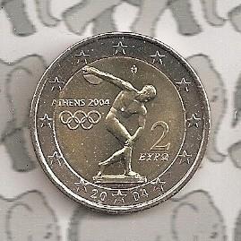 "Griekenland 2 euromunt CC 2004 (1e)""Olympische spelen"""