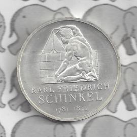 """Duitsland 10 euromunt 2006 (26e) """"225e Verjaardag Karl Friedrich Schinkel"""" (nikkel)."""