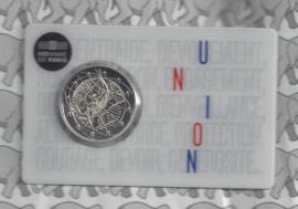 """Frankrijk 2 euromunt CC 2020 (24e) """"Medisch onderzoek"""", in coincard """"Union"""""""
