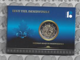 """Estland 2 euromunt CC 2017 """"de weg van Estland naar onafhankelijkheid"""" (in coincard)"""