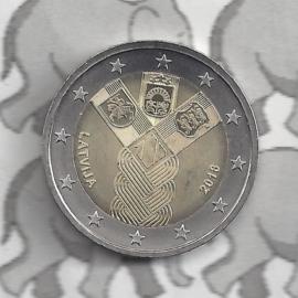"""Letland 2 euromunt CC 2018 """"100 jaar onafhankelijkheid van de Baltische Staten"""""""