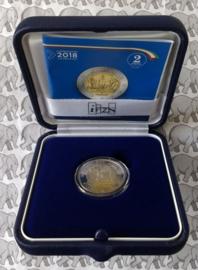 """Italië 2 euromunt CC 2017 """"2000 jaar sinds het overlijden van Livius"""", proof in doosje met certificaat"""