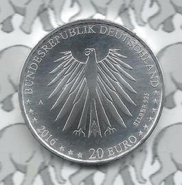 """Duitsland 20 euromunt 2016 (1e) """"Roodkapje"""", zilver"""
