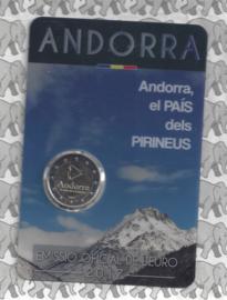 """Andorra 2 euromunt CC 2017 """"Andorra, land in de Pyreneeën"""", in coincard"""