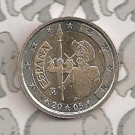 "Spanje 2 euromunt CC 2005 ""Don Quichot"""