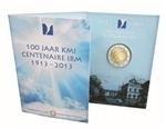 """België 2 euromunt CC 2013 """"100 jaar Koninklijke Meteorologisch Instituut"""" in blister"""