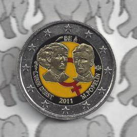 "België 2 euromunt CC 2011 ""Vrouwendag"" (kleur 1)"