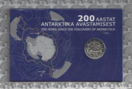 """Estland 2 euromunt CC 2020 (9e)""""200 Jaar na de ontdekking van Antarctica"""" in coincard"""