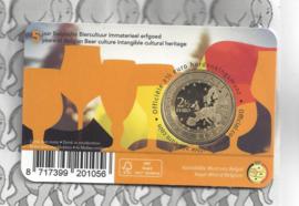 """België 2,5 euromunt 2021 """"5 jaar Belgische Biercultuur immaterieel erfgoed"""" in coincard Franse versie"""