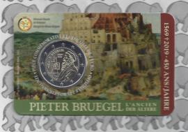 "België 2 euromunt CC 2019 ""450 jaar Bruegel"" in coincard Franse versie"