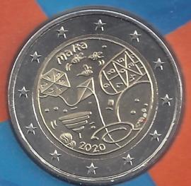 """Malta 2 euromunt CC 2020 (20e) """"Kinderen en Solidariteit: Spelen"""", met muntteken Monnaie de Paris."""