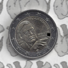 "Duitsland 2 euromunt CC 2018 ""100ste verjaardag van Helmut Schmidt"""