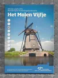 """Nederland 5 euromunt 2014 """"Het Molen vijfje"""" (zilver, proof in blister)"""
