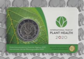 """België 2 euromunt CC 2020 """"Internationaal jaar van de plantengezondheid"""" in coincard Franse versie"""