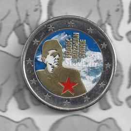 """Slovenië 2 euromunt CC 2011 """"Franc Rozmanstane"""" (kleur 2 x)"""