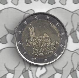 """Portugal 2 euromunt CC 2020 (24e) """"730e Verjaardag van de Universiteit van Coimbra"""""""