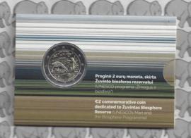 "Litouwen 2 euromunt CC 2021 (11e) ""Žuvintas Biosfeerreservaat"" in coincard"