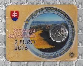 """Slowakije 2 euromunt CC 2016 """"Eerste Voorzitterschap van Slowakije in de Raad van de Europese Unie"""" (in coincard)"""