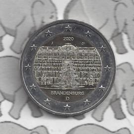 "Duitsland 2 euromunt CC 2020 (23e)""Slot Sanssouci, (Brandenburg)"" (letter G)"