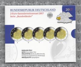 """Duitsland 2 euromunt CC 2017 """"Rijnland-Palts, Porta Nigra te Trier"""" (5 letters) proof"""