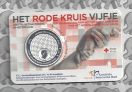 "Nederland 5 euromunt 2017 (34e) ""Rode Kruis vijfje"" (BU, met nummer in coincard)"