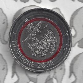 """Duitsland 5 euromunt 2017 """"Tropische zone"""", met doorzichtige rode ring (letter G)"""
