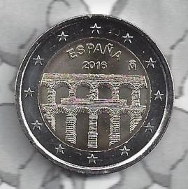"""Spanje 2 euromunt CC 2016 (13e)""""Oude stad Segovia en aquaduct"""""""