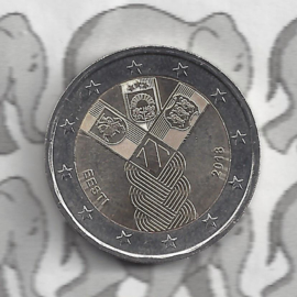 """Estland 2 euromunt CC 2018 """"100 jaar onafhankelijkheid van de Baltische Staten"""""""
