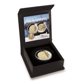Nederland 2 euromunt 2017 met muntmeesterteken Sint Servaasbrug. Proof in doosje met certificaat
