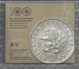"Slowakije BU set 2021 ""100 jaar Tsjechische munten"""