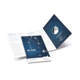 """Nederland 5 euromunt 2019 (41e) """"Luchtvaart vijfje"""" (zilver, proof in blister)"""