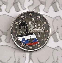 """Slovenië 2 euromunt CC 2011 """"Franc Rozmanstane"""" (kleur 1)"""