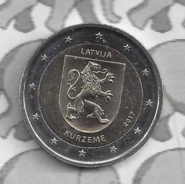 """Letland 2 euromunt CC 2017 (7e)""""Provincie Kurzeme"""""""
