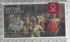 """Oostenrijk 10 euromunt 2021 (39e) """"Broederschap"""". Zilver in blister"""