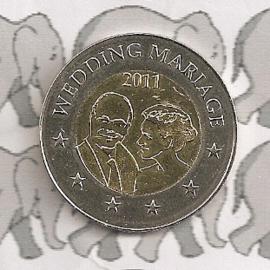 "Monaco 2 euromunt CC 2011 ""Huwelijk"" (proba)"