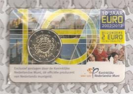 "Nederland 2 euromunt CC 2012 ""10 jaar euro"" (in coincard)"