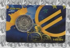 "Nederland 2 euromunt CC 2012 ""10 jaar euro"" (in Coincard, 2e versie)"