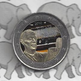 """Frankrijk 2 euromunt CC 2010 """"De Gaulle"""" (kleur 2 x)"""