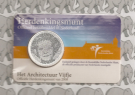 """Nederland 5 euromunt 2008 (12e) """"Architectuur"""" (in coincard)"""