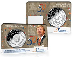 "Nederland 10 euromunt 2017 (33e) ""Verjaardags tientje"" (BU, met nummer in coincard)"